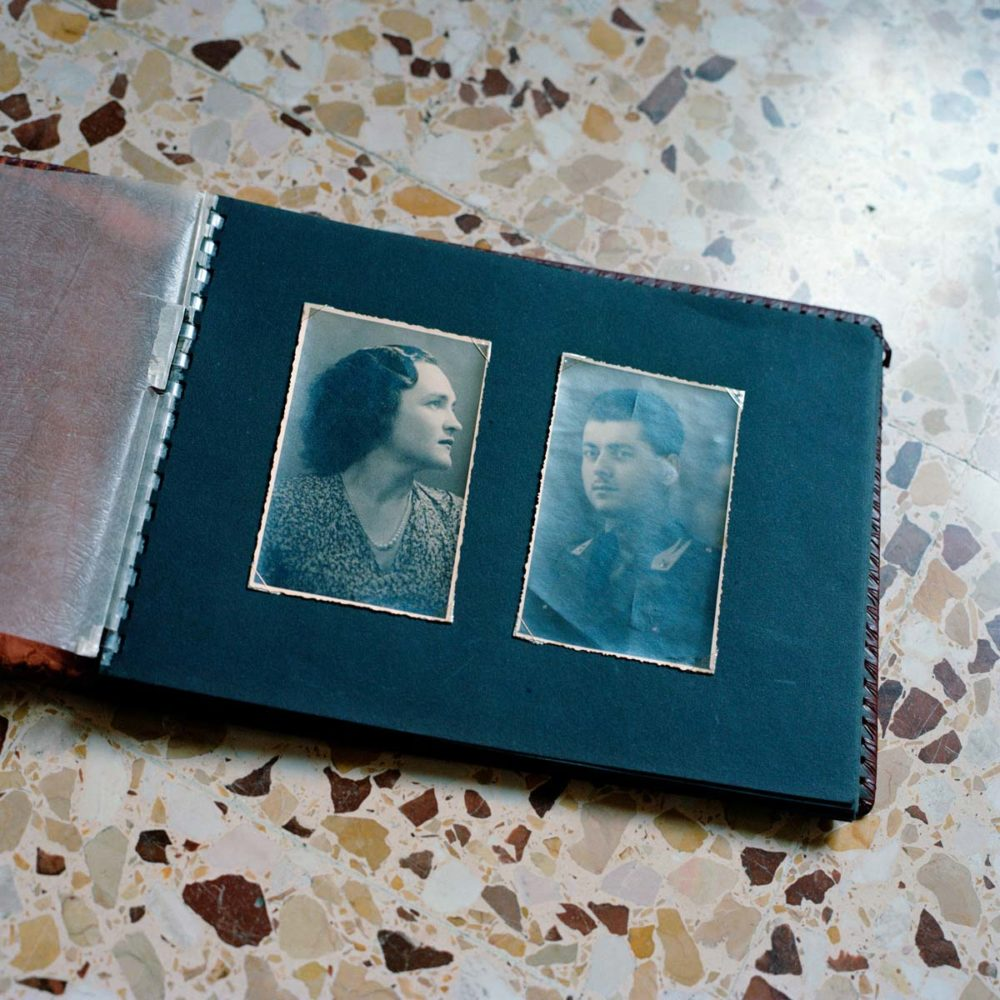 A old family album with the pictures of my grandparents